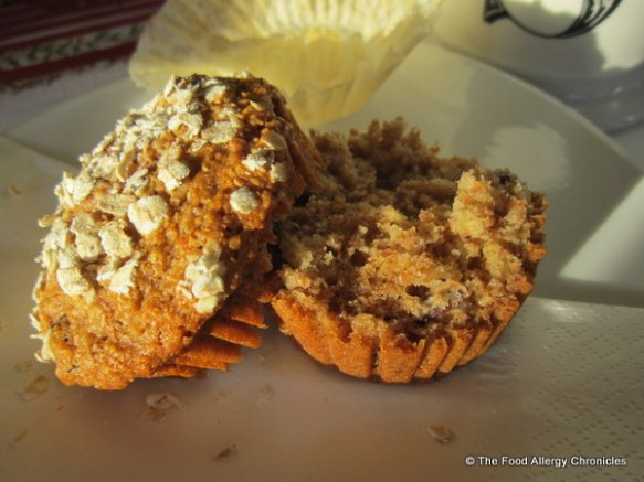 Enjoying a Dairy, Egg, Soy and Peanut/Tree Nut Free Honey Oat Muffin