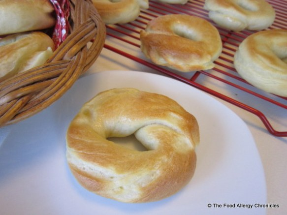 Dairy, Egg, Soy, Sesame and Peanut/Tree Nut Free Bagels
