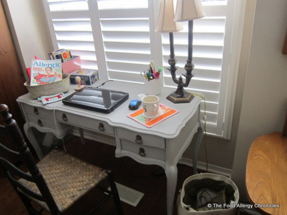 My new antique desk from Michael Penney Style in my front window