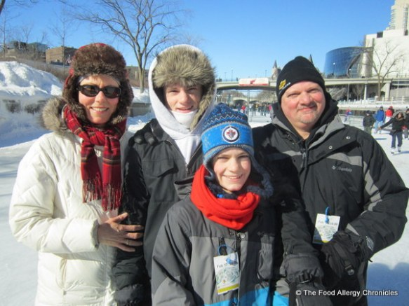 My family skating on the Rideau Canal Family Day 2013