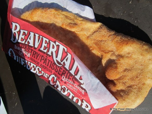 BeaverTail treat midway on the Rideau Canal Family Day 2013 (possibility of cross-contamination with peanut/tree nuts)