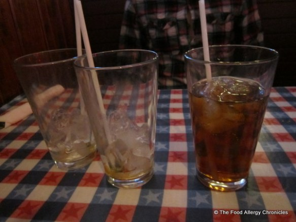 Michael's trail of Iced Tea drinks at the Lone Star Texas Grill