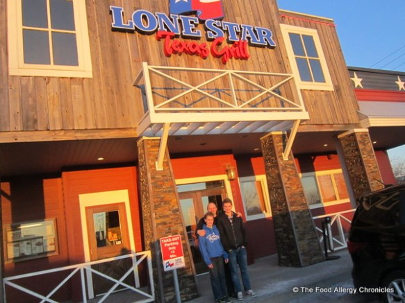 Our family's trip to Lone Star Texas Grill