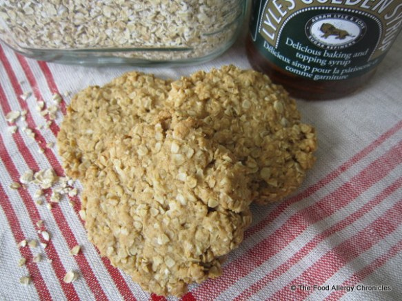 Aunt Mary's Dairy, Egg, Soy and Peanut/Tree Nut Free Oatmeal 'Flapjack' Cookies