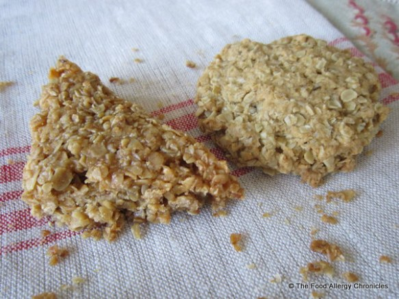 A Dairy, Egg, Soy and Peanut/Tree Nut Free Flapjack and Oatmeal 'Flapjack' Cookie