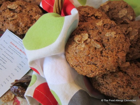 Dairy, Egg, Soy and Peanut/Tree Nut Free Date Bran Whole-wheat Muffins