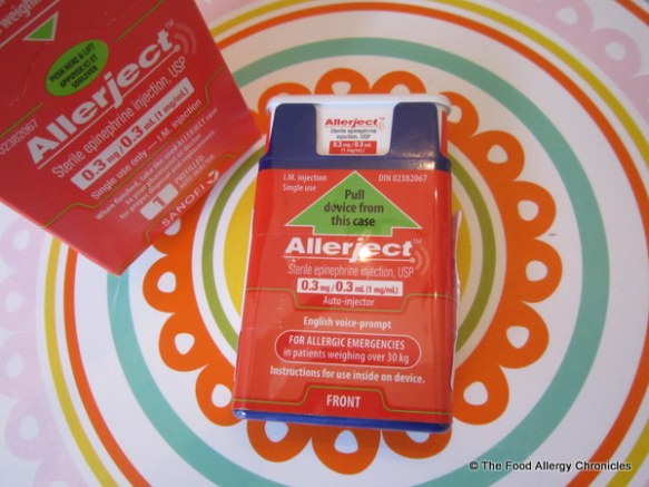 The boys' first Allerject auto-injector