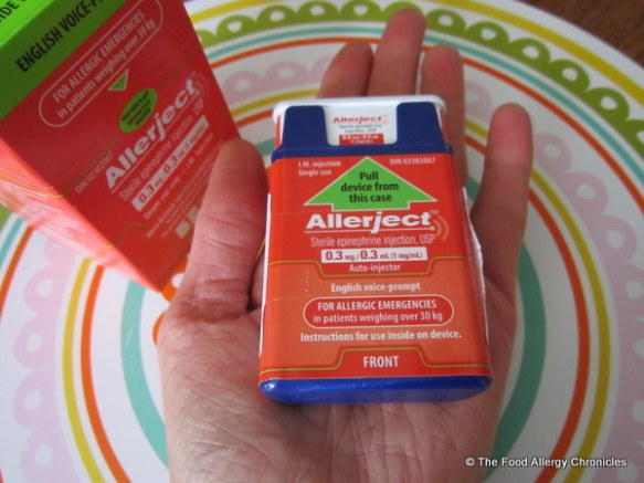 Allerject fits in the palm of your hand