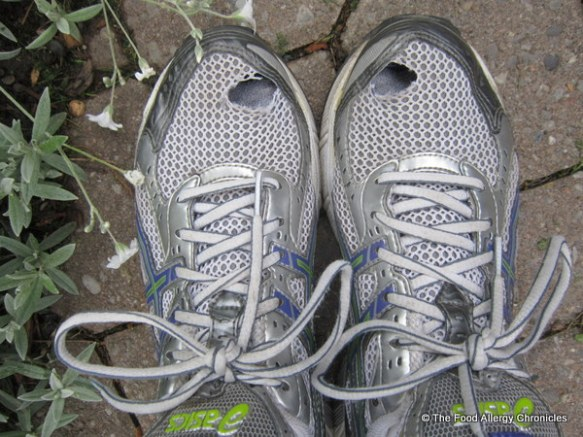 A pair of well used runners