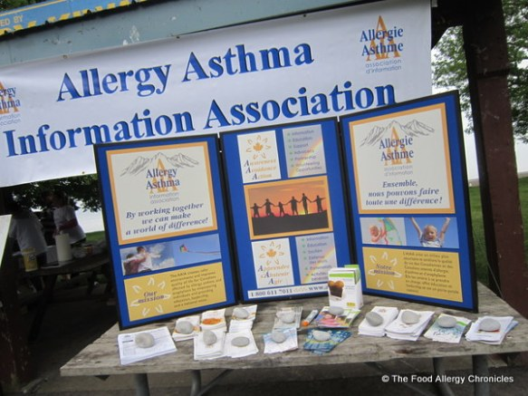 Information display for the Allergy Asthma Information Association