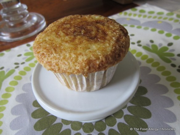 Dairy, Egg, Soy and Peanut/Tree Nut Free Brown Sugar Cinnamon Muffin/Cupcake