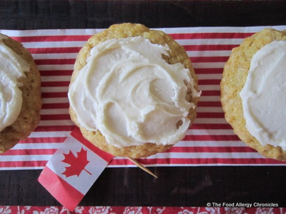 Dairy, Egg, Soy and Peanut/Tree Nut Free Maple Syrup Muffins for Canada Day