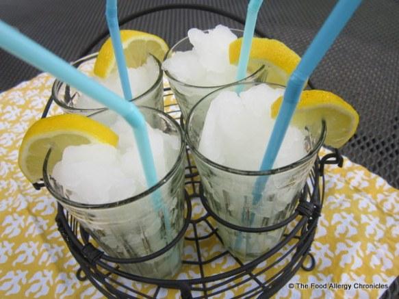 Lemonade Slushies ready to be enjoyed